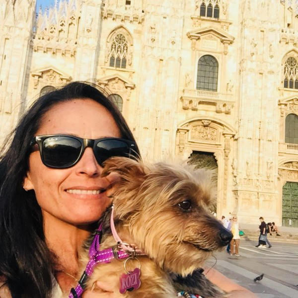 Dog and owner travelling internationally